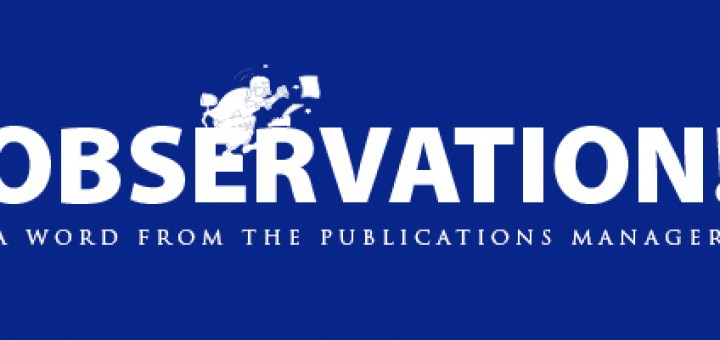 Publications Manager Observation!